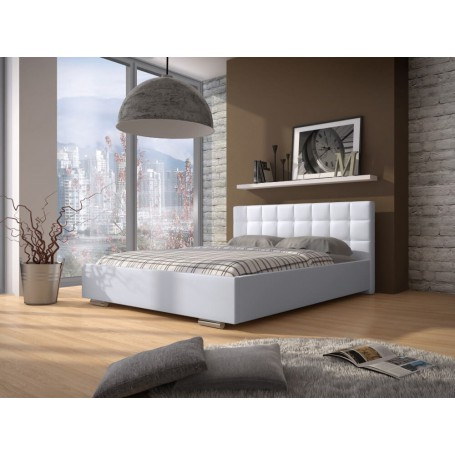 Łóżko DOVE EKOSKÓRA ( Soft 17 BIEL)