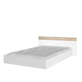 Łóżko 160/200 - ALEX (biały + dąb sonoma)