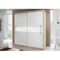 Szafa komandor sonoma biała białe lakierowane szkło
