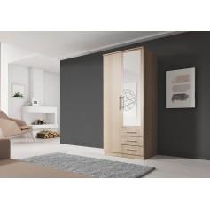 Szafa uchylna SZANTAL 2D 100 cm z lustrem, garderoba
