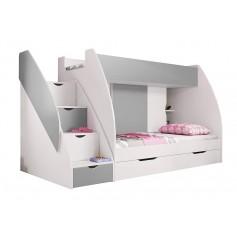 Łóżko piętrowe MARCINEK półki w schodach
