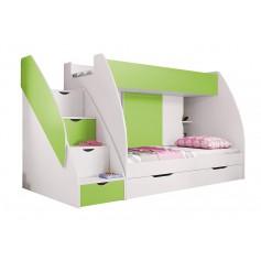 Łóżko piętrowe MARCINEK szuflada w schodach
