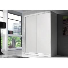 Duża biała szafa przesuwna BONO BIS 160 cm bez lustra garderoba