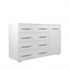 Komoda FRIDA 02 Biała komoda z dużymi szufladami