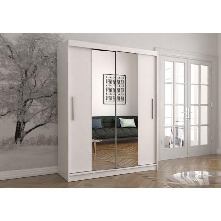Duża biała szafa przesuwna VISTA 01 150 cm, garderoba