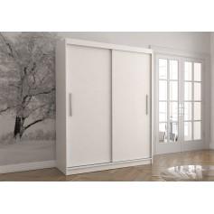 Duża biała szafa przesuwna VISTA 04 150 cm, garderoba, szafa bez lustra