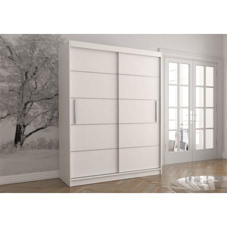 Duża biała szafa przesuwna VISTA 06 150 cm, garderoba