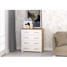 Komoda z szufladami FRIDA MINI 02 SB sonoma biała