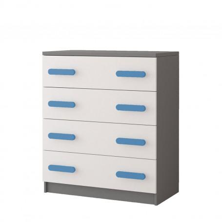 Komoda 4S 02 - SMYK II komoda z szufladami do pokoju dziecięcego