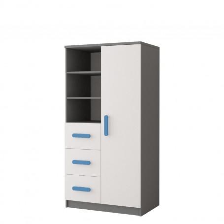 Regał 80 3S1D 05 - SMYK II Regał z szufaldami i półkami