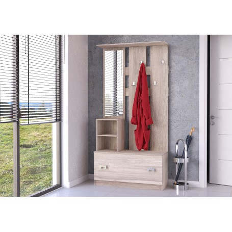 Garderoba  z lustrem dąb sonoma JOLA