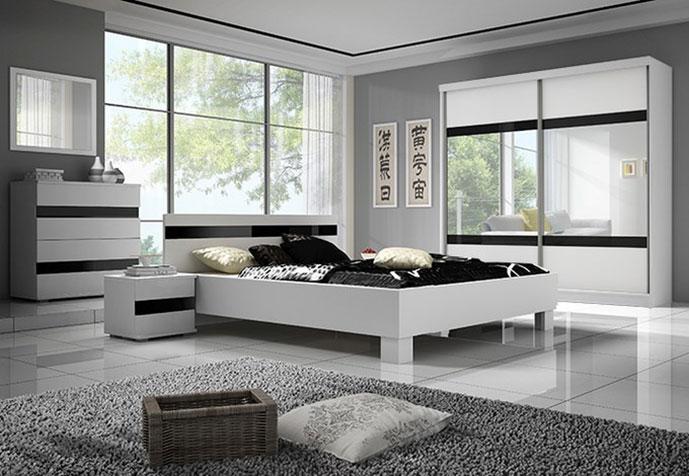 sypialnia połysk