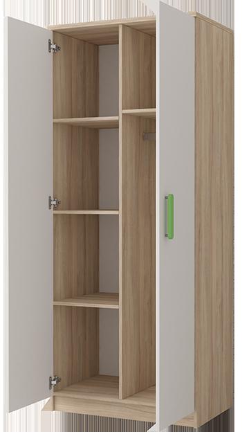 wnętrze szafy dwudrzwiowej do pokoju dziecięcego