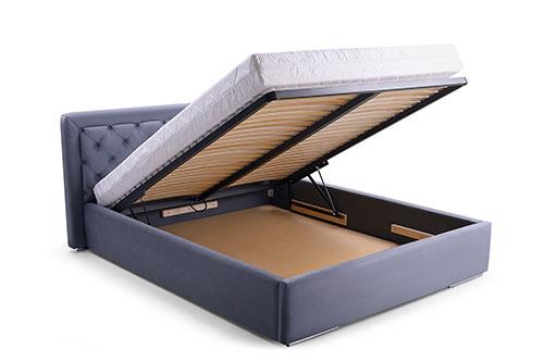 łóżko tapicerowane z pojemnikiem na pościel 160x200 cm