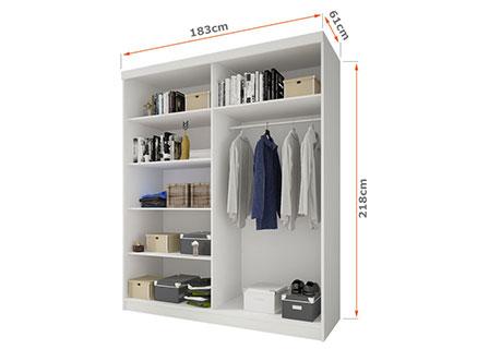 Wnętrze szafy 183 cm