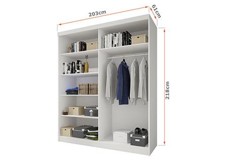 Wnętrze szafy 203 cm