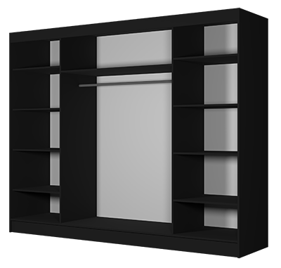 środek szafy ALBA czarny